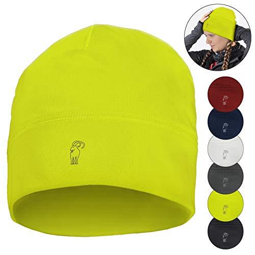 ALPIDEX Running Mütze Sportmütze ROROS One Size Joggen Bike Laufmütze Laufen Sportcap Funktionsmütze für Damen und Herren Unisex, Farbe:Neon Yellow