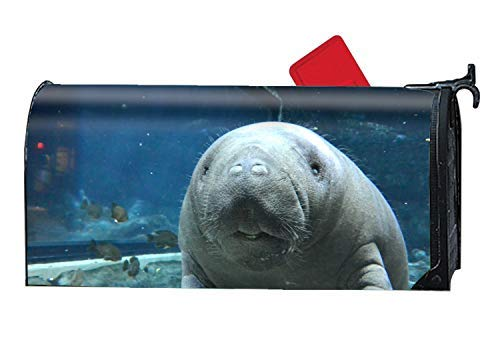 prz0vprz0v Mailbox Covers Magnetic Beautiful Manatee Fairy Door 21 x 18 Inches Waterproof Canvas Mailbox Cover (Fun Mailbox)