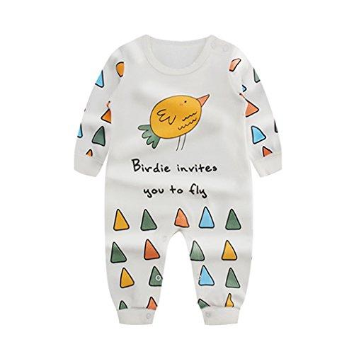 Baby Strampler Langarm Jungen Mädchen Pyjama Overalls Strampelanzug Baby-Nachtwäsche