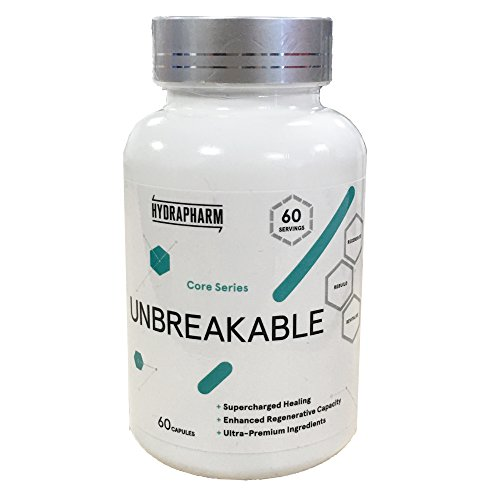 Hydrapharm Unbreakable 60 Capsules | #1 Joint Healing | Muscle Healing | Connective Tissue Healing | Accelerate Healing Of Whole Body | Recuperation | Ultra Premium Ingredients | Get Back Into The Gym Faster | Maximise Healing Rates | Shipped From The UK | Shown In Multiple Studies To Benefit Healing