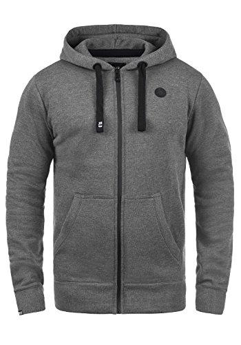 !Solid Bene Zip Herren Sweatjacke Kapuzenjacke Hoodie Mit Kapuze Reißverschluss Und Fleece-Innenseite, Größe:M, Farbe:Grey Melange (8236)