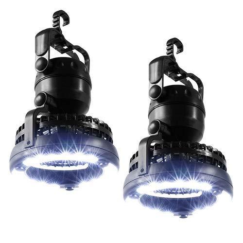1 Licht-cabrio-anhänger (QTDH LED Camping Laterne - 2 In 1 Camping Taschenlampe Fan - Tragbare Zelt Licht Deckenventilator Kronleuchter - Für Outdoor-Wandern Camping Zelt Angeln)