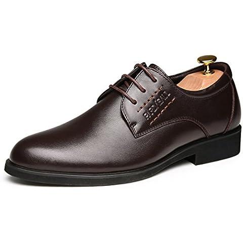 Zapatos de vestir de hombres negocios/Versión coreana de la tendencia de zapatos de los hombres/Hombres primera capa de zapatos de cordones de