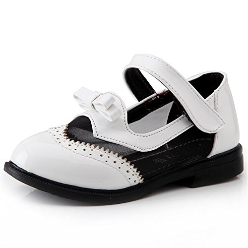 maxu Kid Fille Fashion Hollow Out Sandales plat ballerine Blanc