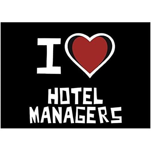 Teeburon I love Hotel Manager Sticker Pacchetto di