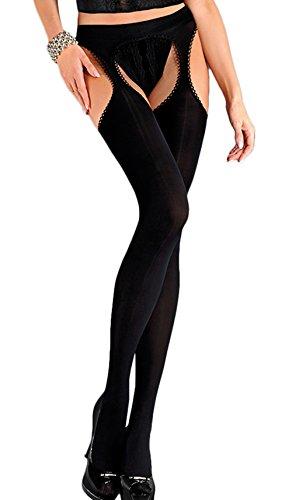 Erotica Strip Panty Microfibre Tights by Gabriella