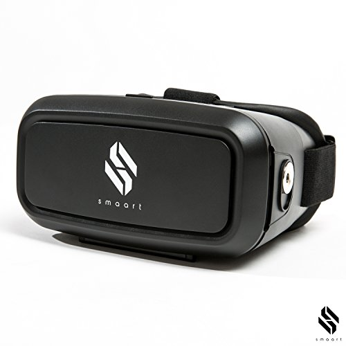 smaart® VR Brille mit integriertem Magnet Controller | Version 2017 | Universal Virtual Reality Headset Box für iPhone 5, 6, 6s, 6 Plus, 7, 7 Plus und Android smartphones | für 3D Videos und VR Apps