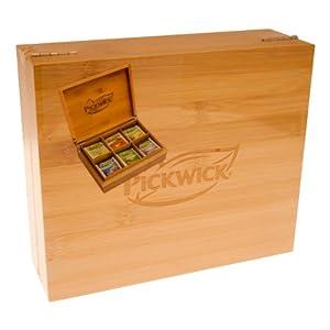 Coffret Cadeau en Bambou Pickwick Assortiment de Thés, 6 Sortes de Thé, Boîte à Thé, 60 Sachets de Thé