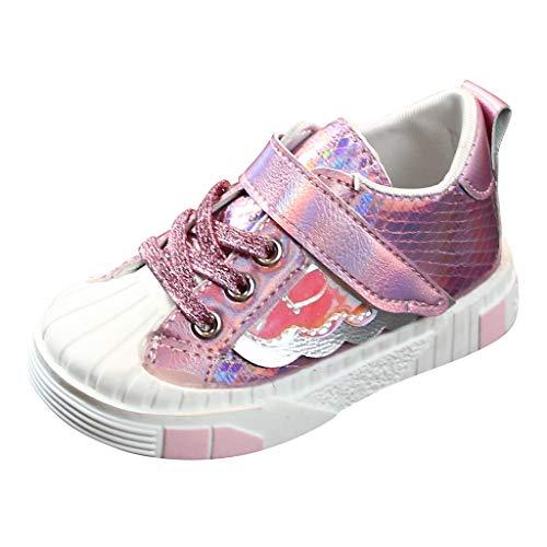 Alwayswin Kinder Schuhe Freizeitschuhe Baby Mädchen Sport Turnschuhe Klettverschluss Sneakers Wanderschuhe Hallenschuhe Outdoor Flache Kinderschuhe Bequem rutschfest Laufschuhe -