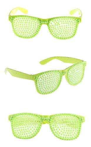m Kostüm Rockstar Popstar im Stil der 80er 90er Jahre - Neongrün (80's Raver Kostüm)
