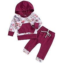 Ropa Bebe otoño Invierno 2018, ❤ Amlaiworld Recién Nacido bebé niño niña Floral Tops