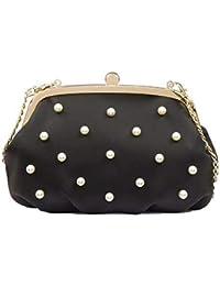 998f6dd376 Tosca Blu Borsa linea Moore pochette nero fantasia perle