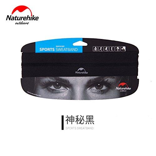 Grandbuy Online Shop NA Damen & Herren Stirnband, schnelltrocknend, Anti-Rutsch Stirnband, Sport Stirnband für Laufen, Training, Feuchtigkeitstransport, schwarz
