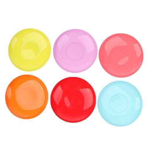 P Prettyia 6pcs Kunststoff-Teller Plastik-Teller Plastikbesteck-Set