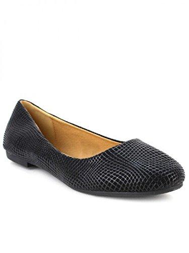 Cendriyon, Ballerine Ecaillée ALINDA Mode Chaussures Femme Noir