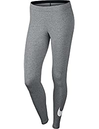 Nike Club Legging-Logo 2 Mallas, Mujer, Gris / Blanco, XL