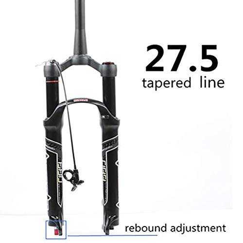 Horquilla de Bicicleta MTB 26 27.5 29 Inch Ultraligero Control Remoto Aluminum Alloy Mountain Bike Horquilla de Air Suspensión Recorrido: 100 mm