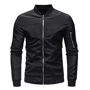 TWBB Herren Jacke Pullover Mit Reißverschluss Mantel Lange Ärmel Outwear Tops Coat Sweatshirt