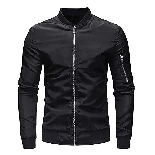 Sannysis Herren Slim Fit Pullover Langarm Mantel Herren Herbst Winter Casual Solid Zipper Jacke Top Bluse Outwear