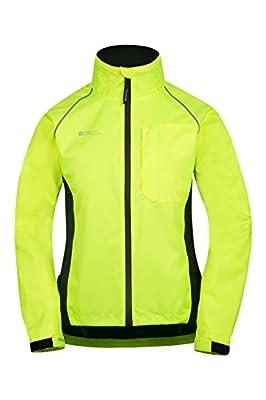 Mountain Warehouse Adrenaline Womens Jacket - Breathable Ladies Jacket, Taped Seams, Waterproof Raincoat, High Viz All Season Coat - For Cycling, Running