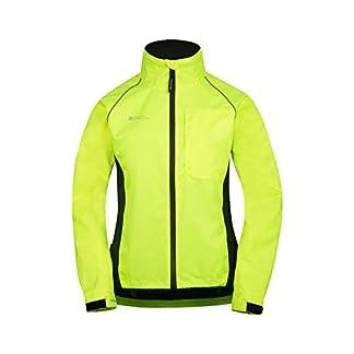 Mountain Warehouse Adrenaline Womens Jacket - Breathable Ladies Jacket, Taped Seams, Waterproof Raincoat, High Viz Rain Jacket - for Cycling, Running, Travelling 14