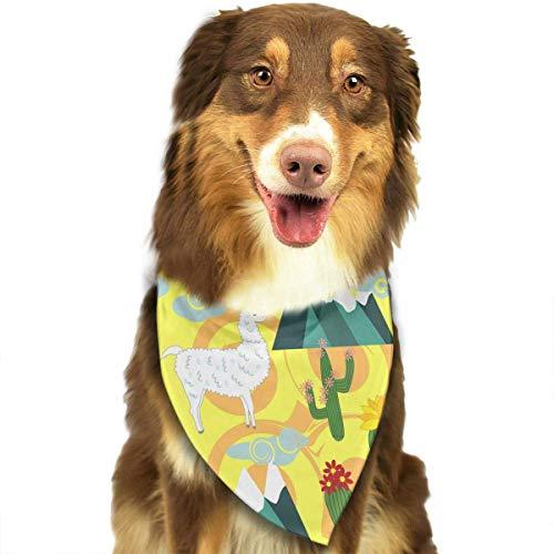 a-Alpaka mit Kaktus-Muster stilvoller Hund Bandana Lätzchen Schal Haustier-Hundekatze-Hundeschal ()