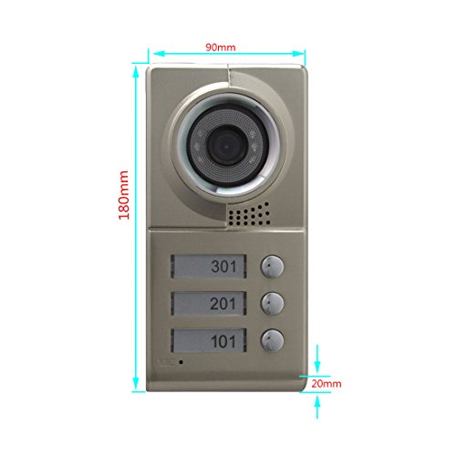 "PUTECA 7 ""LCD Video Door Phone Video Intercom Doorbell Home Security IR Camera Monitor With Night Vision Video Two family dedicated entrance guard system"