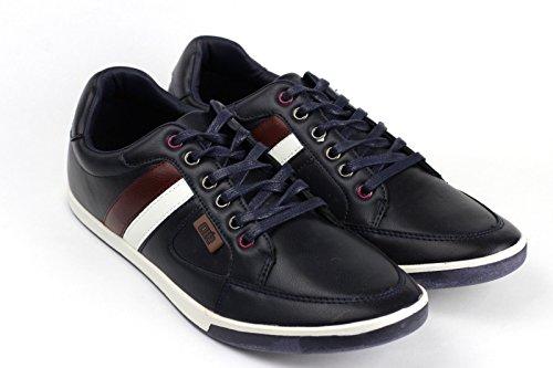Mens Casual Lace Up Trainers Smart Flat Driving Shoes Plimsolls Espadrilles (UK 9 / EU 43, Navy)
