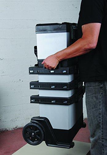 Stanley Fatmax 1-95-622 Rollende Werkstatt Metall-Kunststoff mit Rädern, abnehmbarer Werkzeugbox und herausnehmbarer Trage, 57 x 90 x 39cm - 9