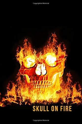 Skull on Fire: Blank Line Journal por Mary Lou Darling