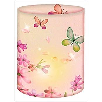 5 Lichter Tischlichter aus Transparentpapier Baby Rosa//M/ädchen