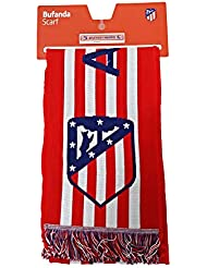 33b22fa6547ba Bufanda Telar Atlético de Madrid Rayas Horizontal - Nuevo Escudo - Rojo -  Blanco - Azul