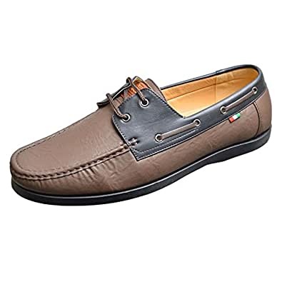 mens duke d555 big king size burch lace up boat shoes