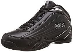 Fila Mens Slam 12C Black and Metallic Silver Basketball Shoes -8 UK/India (42 EU)