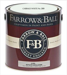 Preisvergleich Produktbild Farrow & Ball Estate Emulsion 2, 5 Liter - CABBAGE WHITE No. 269