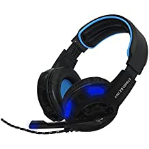 WOXTER STINGER GX 200 H  - Auriculares Gaming (cascos gaming con micrófono omnidireccional y luces Led)