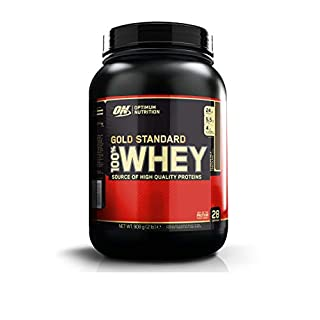 Optimum Nutrition Gold Standard Whey Protein Powder with Glutamine and Amino Acids Protein Shake by ON - Extreme Milk Chocolate, 28 Servings, 908 g