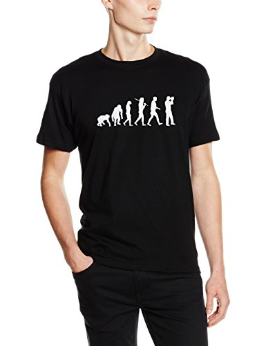 Shirtzshop–Maglietta Evoluzione, edizione standard Camcorder Hobby Filmer camera nero
