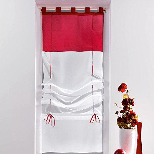 Douceur d'intérieur - tenda a pacchetto con passanti, ceramica, rosso, 45 x 180 cm