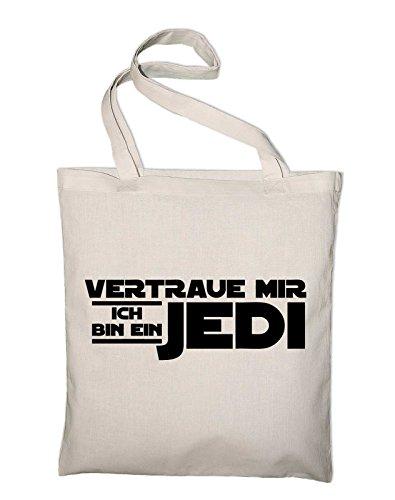 Fiducia In Me Che Sono Un Iuta Jedi, Borse, Borse Di Stoffa, Borse In Cotone, La Natura Marrone