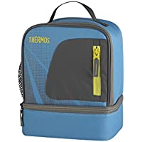 Thermos 148976 Radiance Dual COMPARTM LUNCHKIT Turquois Tissu, Turquoise
