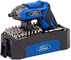 Ford Tools 1500Mah Lithium Ion Compact Cordless Electric Rechargeable Screwdriver Set, 3.6V