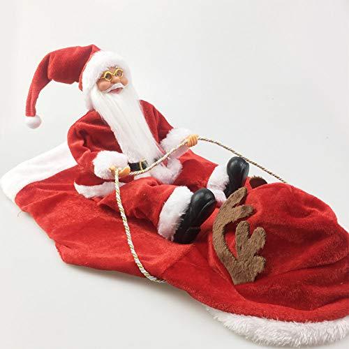 Ocamo Hunde- und Haustierkostüm, Weihnachtsmann reitet Hirsch Form Kostüm für Haustiere, Hunde-Party, Cosplay Red - Hirsch Kostüm Für Hunde