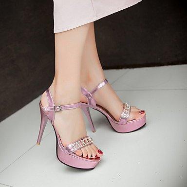 LFNLYX Donna Sandali Primavera Estate Autunno altri PU Party & abito da sera Casual Stiletto Heel altri Pink Silver Gold Altri Gold