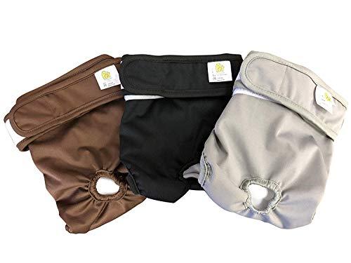 PET MAGASIN Waschbare Hundewindeln (3-er Packung) Wickelwindeln für Hunde mit hoher Saugfähigkeit (Original, S)