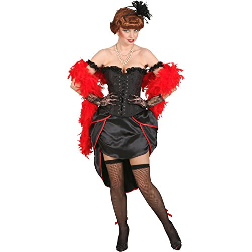 Burlesque Corsage Pin up Korsett schwarz L (44/46) Burleske Mieder Korsage mit (Korsett Up Kostüm Pin)