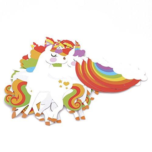 Pinhan Einhorn Geburtstag Banner Wolke Swan Party Event Dekoration Pull Flag Wand Dekoration Anhänger Bunting Pull Blume