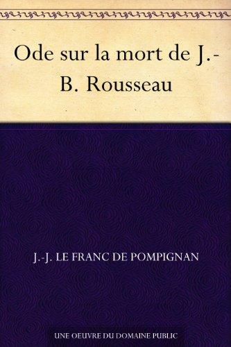 Couverture du livre Ode sur la mort de J.-B. Rousseau