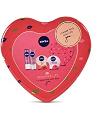Nivea Gift Set, Luscious Lips Gift Pack for Her with 4 Items