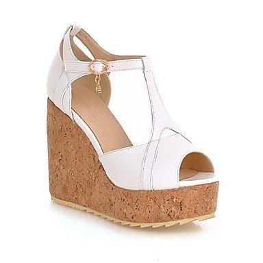 Zhenfu Femmes Chaussures Talon Compensées / Talons / Peep Toe / Sandales Outdoor Platform / Casual Wear / Noir / Bleu / Rose / Blanc Blanc
